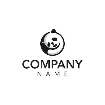 Illustrazione dell'icona di vettore di vettore del panda di sonno