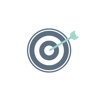 Illustrazione dell'icona obiettivo aziendale