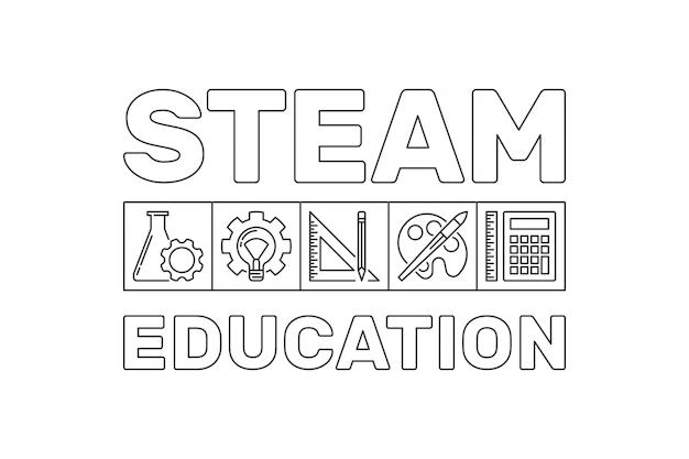 Illustrazione dell'insegna del profilo di istruzione di steam
