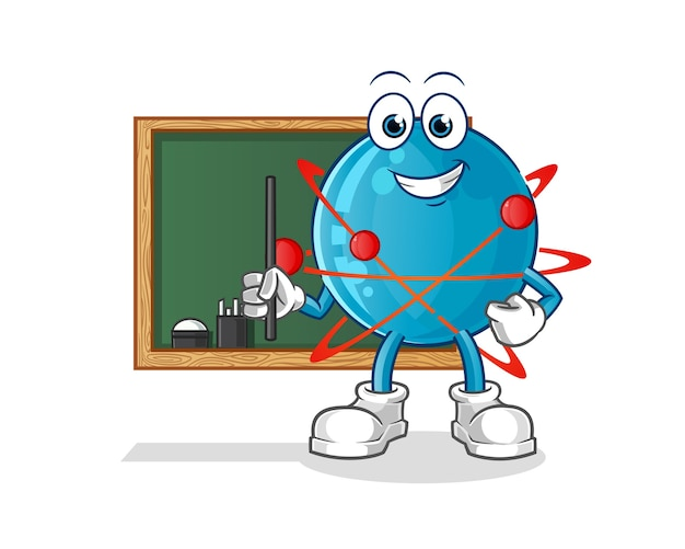 Illustrazione dell'insegnante dell'atomo