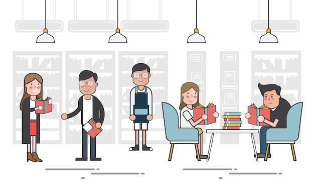 Illustrazione dell'insieme di vettore delle biblioteche
