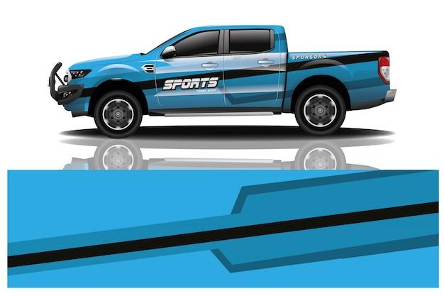 Illustrazione dell'involucro dell'automobile del camioncino