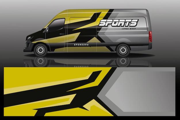 Illustrazione dell'involucro dell'automobile del furgone