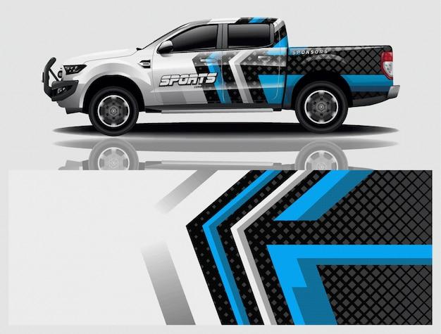 Illustrazione dell'involucro della decalcomania dell'automobile del camion