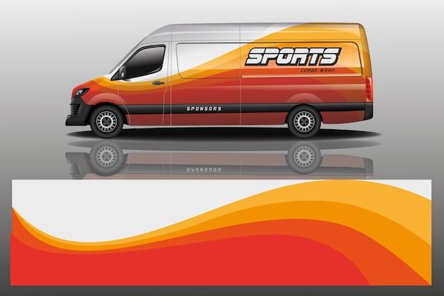 Illustrazione dell'involucro della decalcomania dell'automobile del furgone