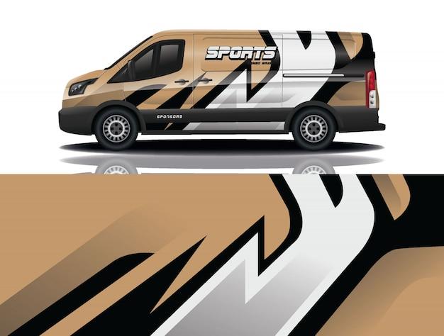 Illustrazione dell'involucro della decalcomania dell'automobile di van