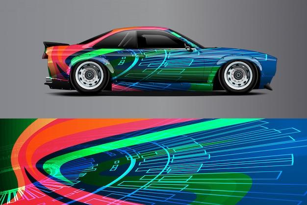 Illustrazione dell'involucro della decalcomania dell'automobile