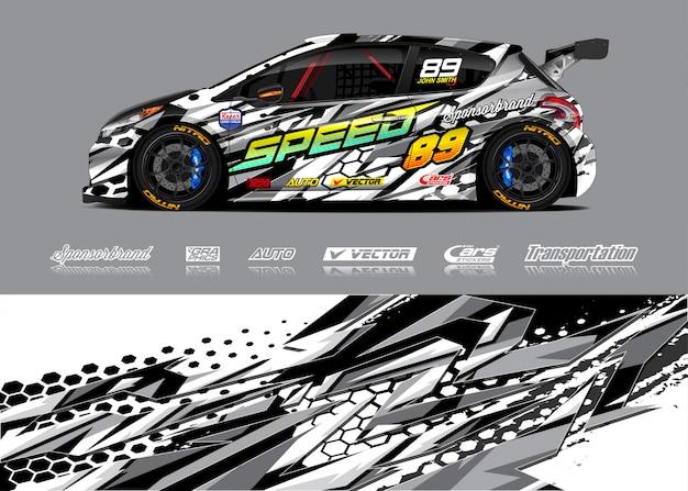 Illustrazione dell'involucro della macchina da corsa