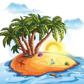 Illustrazione dell'isola del tesoro
