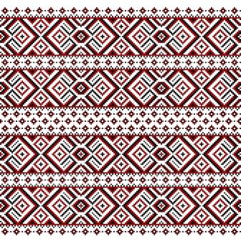 Illustrazione dell'ornamento senza giunte folk ucraino
