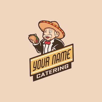 Illustrazione dell'uomo dell'alimento di approvvigionamento
