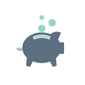 Illustrazione della banca piggt