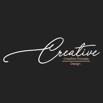 Illustrazione della bandiera creativa del bollo del progettista