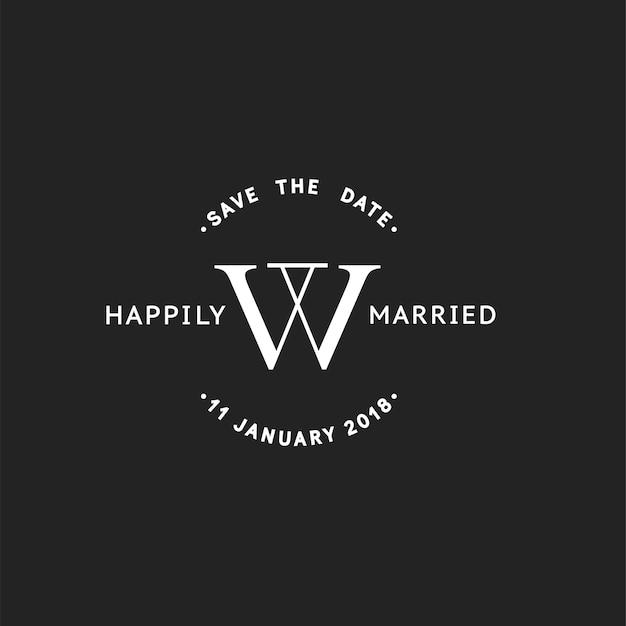 Illustrazione della bandiera del bollo dell'invito di nozze