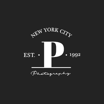 Illustrazione della bandiera del bollo dello studio della foto