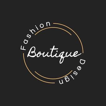 Illustrazione della bandiera del bollo logo negozio boutique