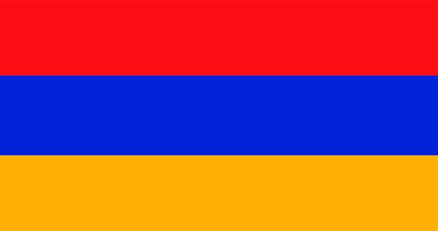 Illustrazione della bandiera dell'armenia