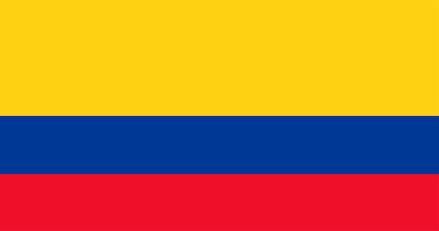 Illustrazione della bandiera della colombia