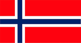 Illustrazione della bandiera della Norvegia