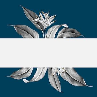 Illustrazione della bandiera di pianta tropicale