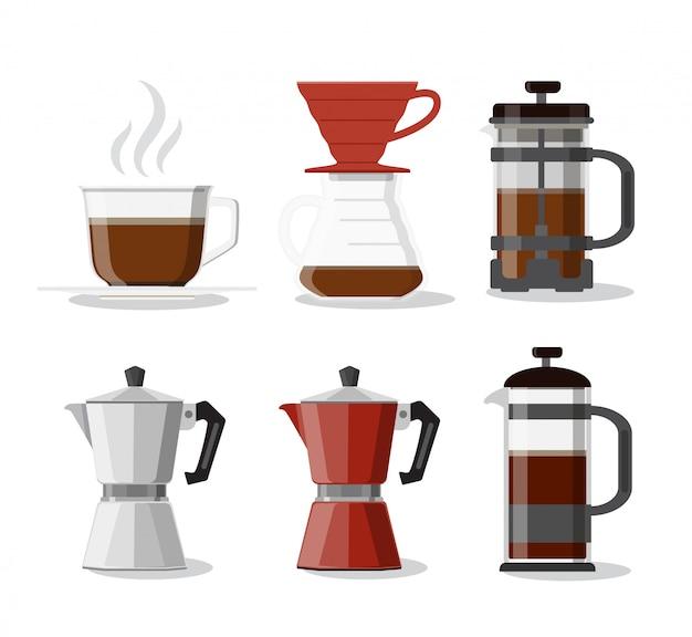 Illustrazione della bevanda del caffè