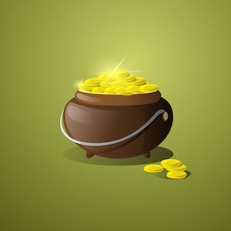 Illustrazione della birra di giorno delle monete di san patrizio