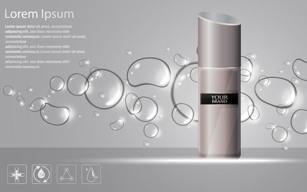 Illustrazione della bottiglia cosmetica