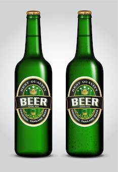 Illustrazione della bottiglia da birra con etichetta