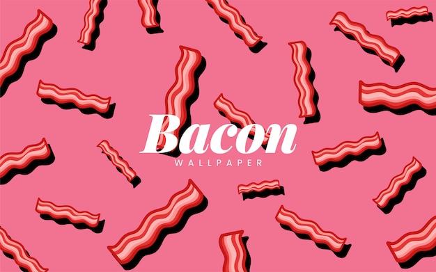 Illustrazione della carta da parati dell'alimento del modello del bacon
