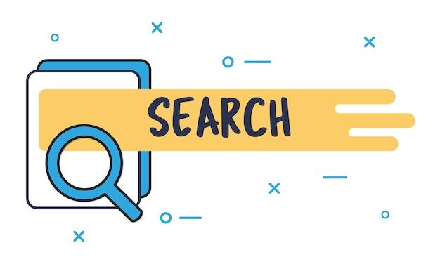 Illustrazione della casella di ricerca