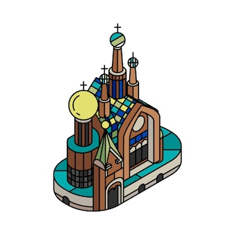Illustrazione della chiesa del salvatore sul sangue russia