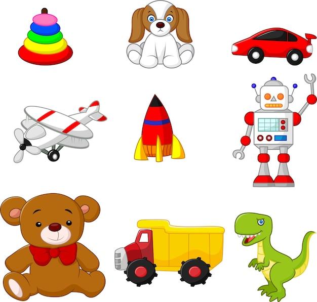Illustrazione della collezione di giocattoli per bambini