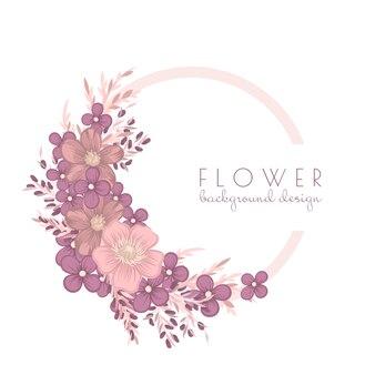 Illustrazione della corona di fiori