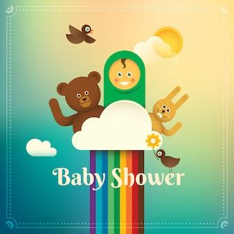 Illustrazione della doccia di bambino