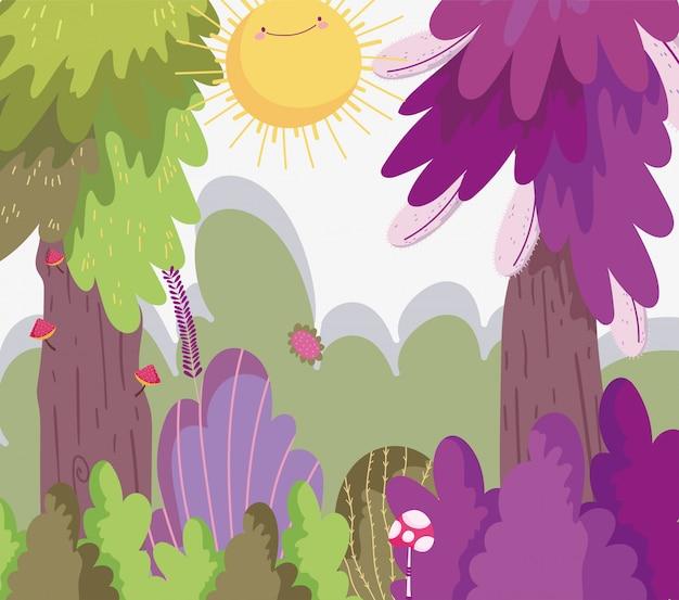 Illustrazione della foresta del fumetto