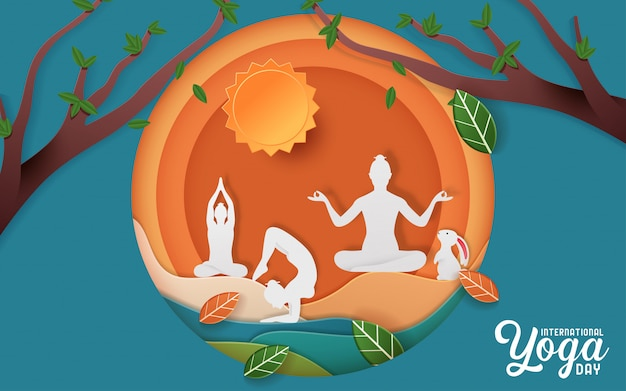 Illustrazione della giornata internazionale dello yoga