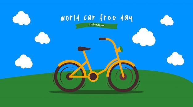 Illustrazione della giornata mondiale senza automobili
