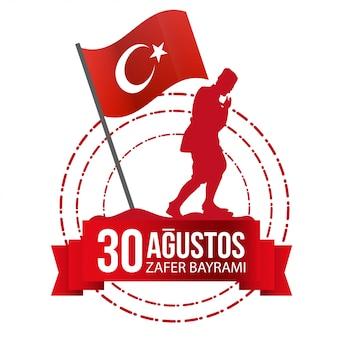 Illustrazione della giornata nazionale della turchia