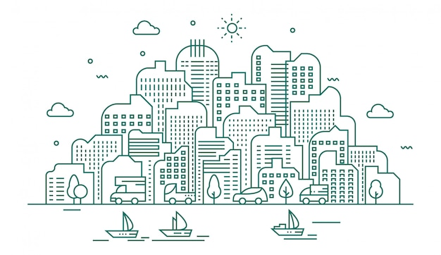 Illustrazione della grande città