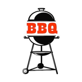 Illustrazione della griglia del barbecue su priorità bassa bianca