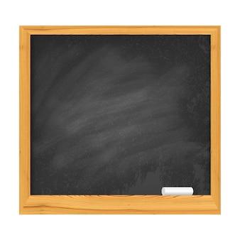Illustrazione della lavagna della scuola isolata su bianco
