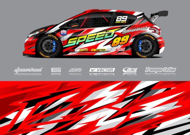 Illustrazione della livrea della macchina da corsa