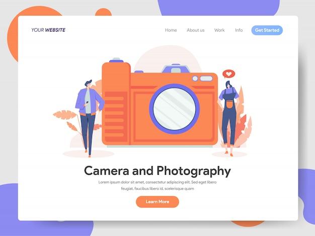 Illustrazione della macchina fotografica e di fotografia