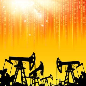 Illustrazione della macchina industriale della pompa dell'olio per lo sfondo