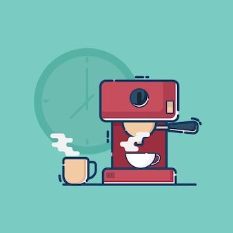 Illustrazione della macchina per il caffè
