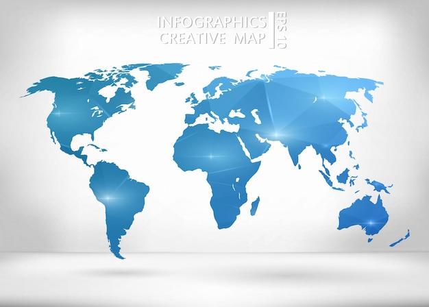 Illustrazione della mappa del mondo.