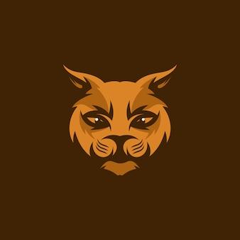 Illustrazione della mascotte del gatto capo