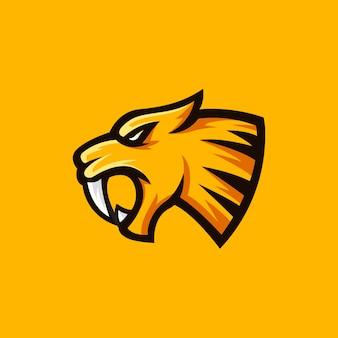 Illustrazione della mascotte di logo di sabertooth