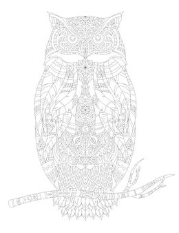 Illustrazione della pagina da colorare adulto animale