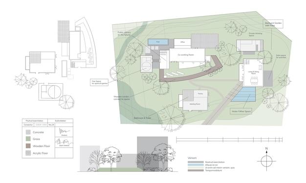 Illustrazione della pianificazione della casa